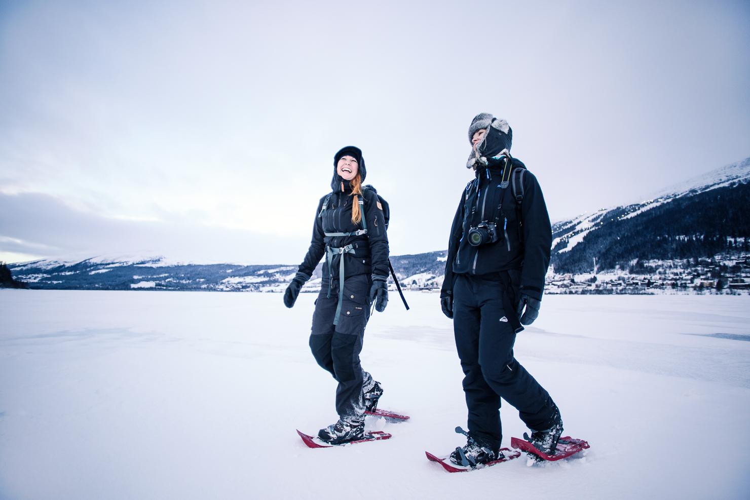 Snöskovandring på Åresjön