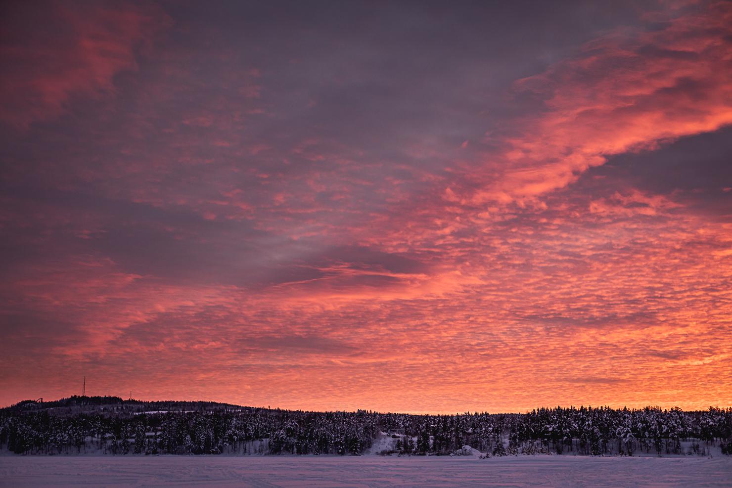Winter sunset in Särna