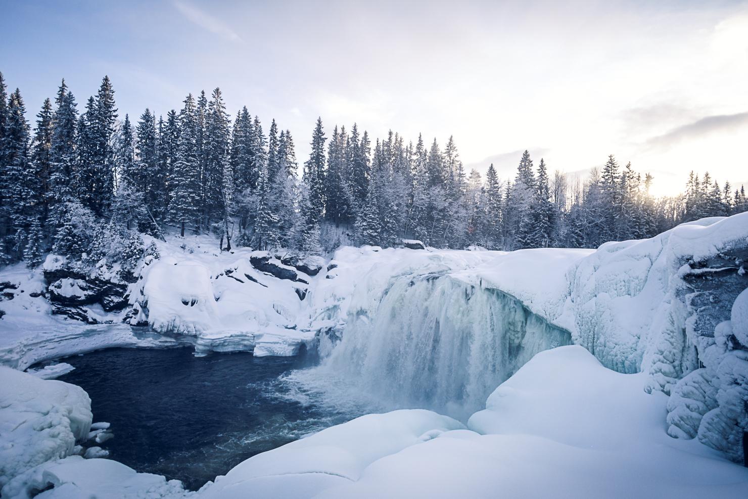 Ristafallet i vinterskrud