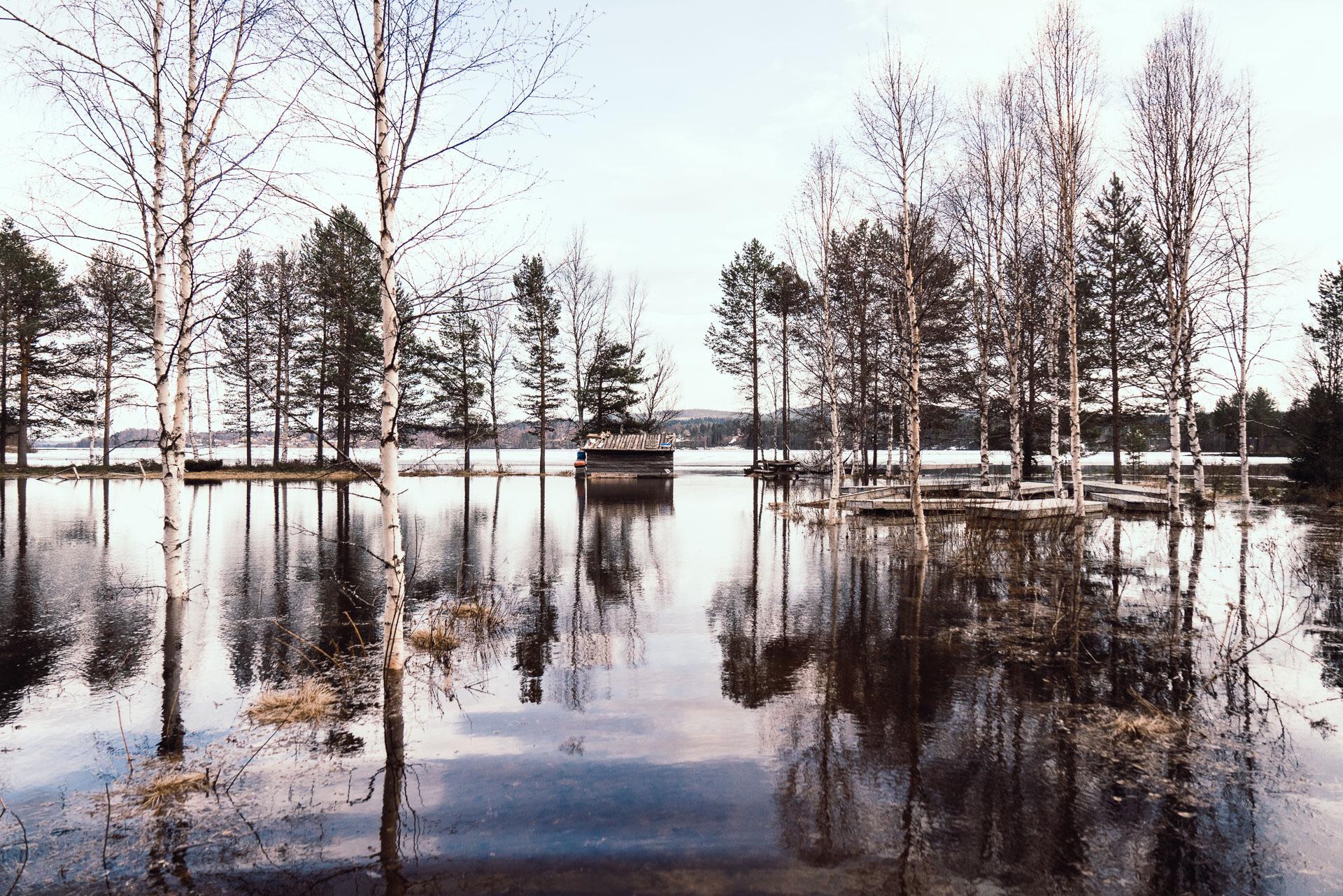 Vårflod i Särna 2019